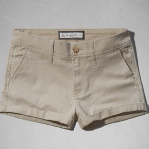 Women's tan Abercrombie and Fitch shorts size 6